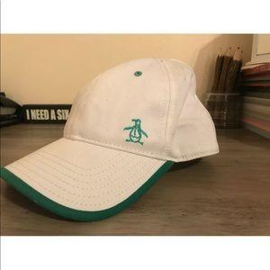 Penguin Munsingwear White Green Cap NWT
